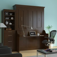 Coventry DIY Murphy Desk Bed Walnut | Sleepworks