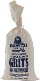 Mixed Yellow and White Palmetto Farms 2 Pound Stone Ground Grits – Grinding Grits Since 1934- Just All Natural Corn No Additives – Processed in a Wheat Free Facility