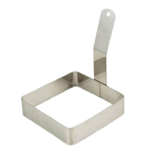 Winco Stainless Steel Square Egg Ring, 4 x 4 inch — 1 each.
