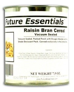 1 Can of Future Essentials Canned Raisin Bran Cereal