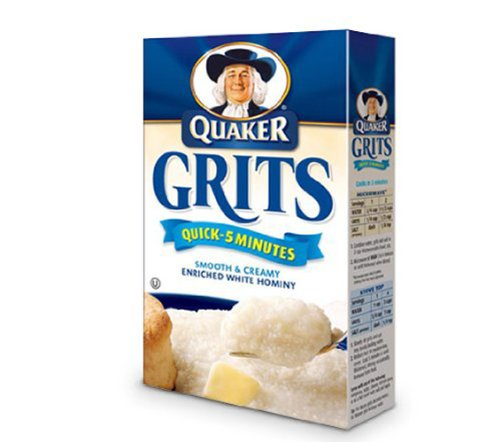 Quick Grits White Corn, 5-Pound Bags (Pack of 8)
