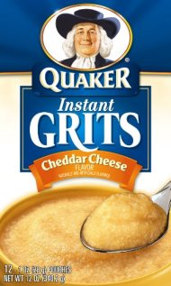 Quaker Instant Grits Real Cheddar Cheese, 12-Count Boxes (Pack of 12)