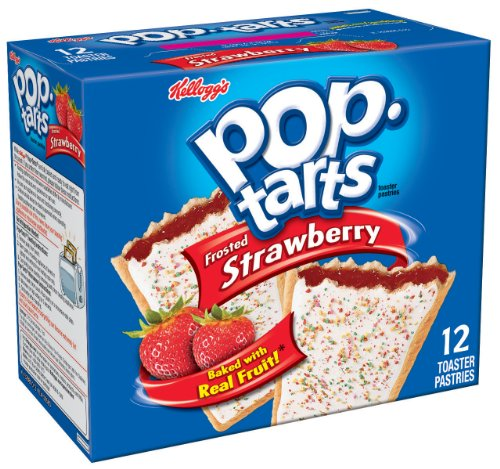 Pop-Tarts, Frosted Strawberry, 12-Count Tarts (Pack of 12)