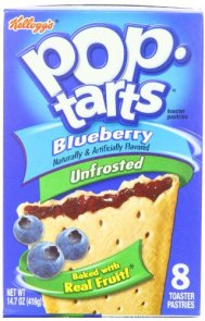 Pop-Tarts, (Not Frosted) Blueberry, 8-Count Tarts (Pack of 12)