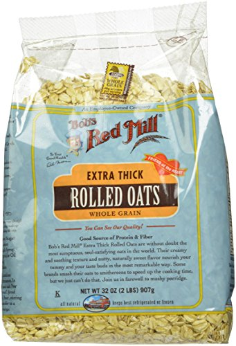 Bob's Red Mill Oats Rolled Thick, 32-Ounce (Pack of 4)