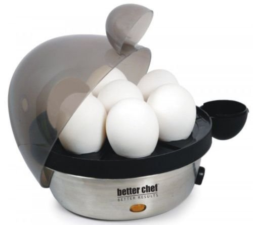 Better Chef Electric Egg Cooker 470s, Stainless, New