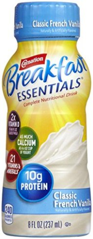 Carnation Breakfast Essentials Instant Breakfast Ready to Drink, Vanilla-8 ounces, 6pk