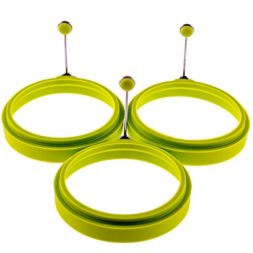 YumYum Silicone Egg Ring / Pancake Mold – Box of 3 Round Egg Cooker / Pancake Molds for Kids