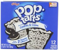 Pop-Tarts, Frosted Cookies & Cream, 12-Count Tarts (Pack of 6), 21.1oz