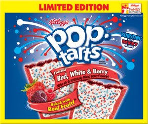 Kellogg's Pop-tarts Frosted Red White & Berry Toaster Pastries Limited Edition, 12ct 2 Pack
