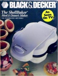 Black & Decker The Shell Baker Meal & Dessert Maker