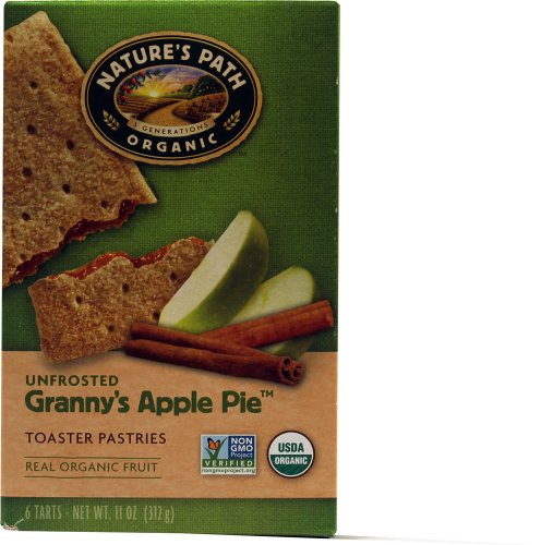 Nature's Path Organic Toaster Pastries Unfrosted Apple Cinnamon — 11 oz