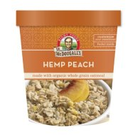 Dr. McDougall's Hemp Peach Oatmeal Cups Made With Organic Whole Grain Oatmeal 3-Ounce Cups (Pack of 6)