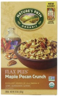 Nature's Path Organic Flax Plus Maple Pecan Crunch Cereal, 11.5-Ounce Boxes (Pack of 6)