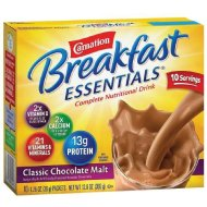 Carnation Breakfast Essentials Complete Nutritional Drink, Packets, Classic Chocolate Malt 10 ea