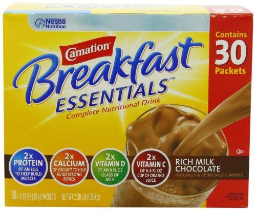 Carnation Breakfast Essentials Complete Nutritional Drink, Rich Milk Chocolate, 1.26 oz, (Pack of 30)