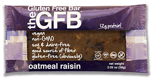 The GFB Oatmeal Raisin Bar, 2.05-Ounce (Pack of 12)