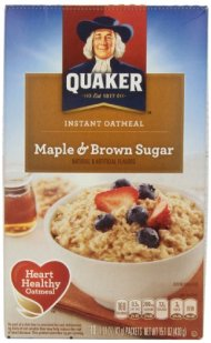 Quaker Instant Oatmeal Maple Brown Sugar, 10 ct, 1.51 oz