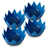 LotusPoachers Silicone Egg Poachers (Set of 4)…Brand-New-Design…Premium Non Stick Egg Poaching Cups…Blue