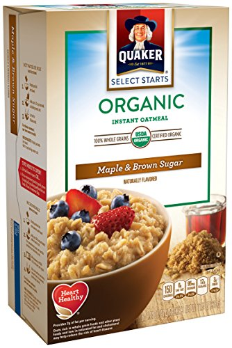 Quaker Organic Oatmeal, Maple Brown Sugar, 11.5 Ounce