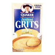Quaker Instant Grits Real Butter 12oz – 6 Unit Pack