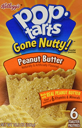 Kellogg's Pop-Tarts Gone Nutty Toaster Pastries – Peanut Butter – 10.5 oz – 6 ct