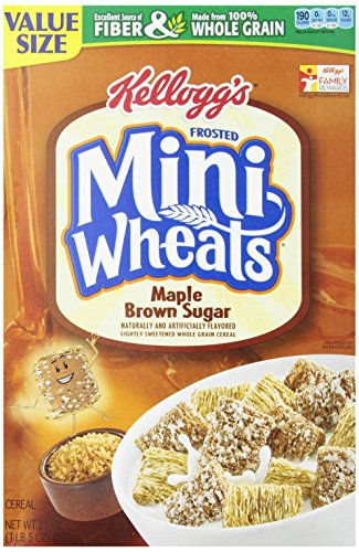 Kellogg's Frosted Mini Wheats Bite Size Maple Brown Sugar, 21 Ounce