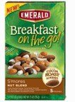 Emerald Breakfast on the Go! Blend and Granola Mix, S'Mores Nut, 7.5 Ounce (Pack of 8)