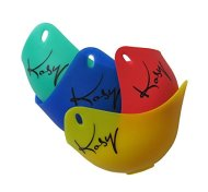 Kosy Kitchen(TM) Silicone Egg Poacher Pods HY-EP-001 Set Of 4 Colors Red Blue Yellow and Green Egg Boiler