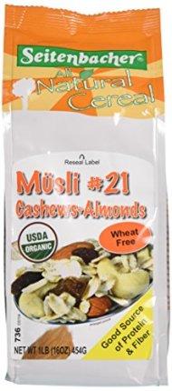 Seitenbacher Musli Breakfast Cereals, Cashews/Apricots, 16 Ounce