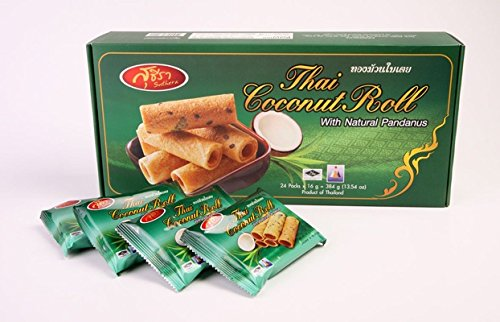 Thai Crispy Roll Coconut with Natural Pandanus 192g (6.76oz)