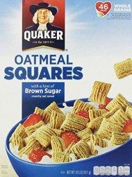 Quaker Oatmeal Squares Cereal, 14.50 Oz