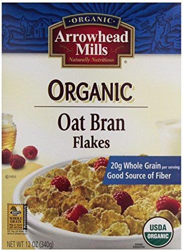 Arrowhead Mills Organic Oat Bran Flakes, 12 Ounce