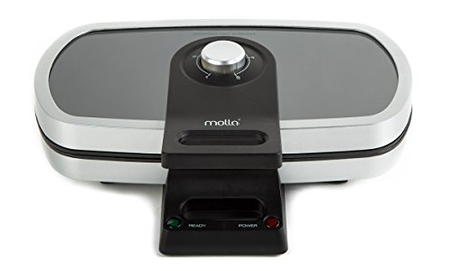 Molla Glass Top Belgian Waffle Maker, Double