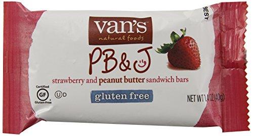 Van's, Gluten Free Snack Bars, PB&J Strawberry, 7.05 oz