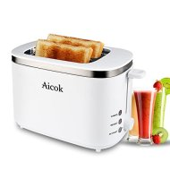 Aicok Compact Cool Wall 2-slice Toaster, White (2-Slice)