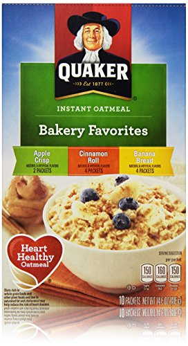 Quaker Oats Instant Oatmeal Bakery Favorites Variety Pack, 14.6 Ounce