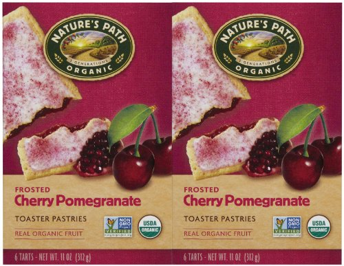 Nature's Path Frosted Toaster Pastry – Cherry Pomegranate – 11 Ounces – 6 Count