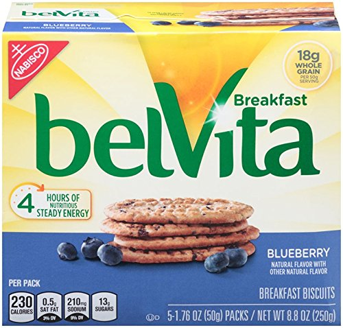 belVita Breakfast Biscuits, Blueberry, 8.8 Ounce (6 Pack)