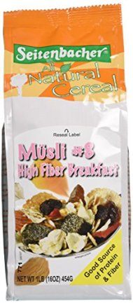 Seitenbacher Musli Cereal, #8 High Fiber Breakfast, 16 Ounce