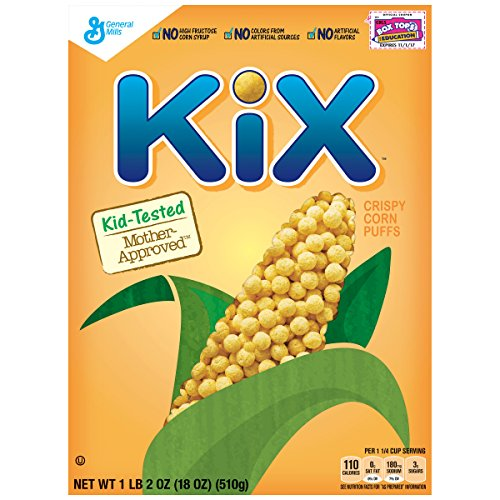 General Mills Cereals Kix Cereal, 18 Ounce