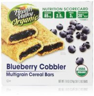 Health Valley Organic Multigrain Cereal Bars, Blueberry Cobbler, 6 Count