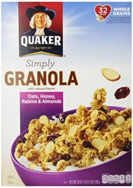 Quaker Granola Oats, Honey, Almonds & Raisins, 100% Natural, 28 oz