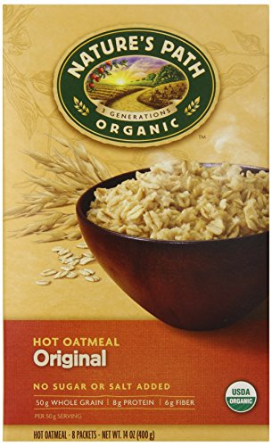 Nature's Path Organic Instant Hot Oatmeal Pouch Original, 14-Ounce Box (Pack of 6)