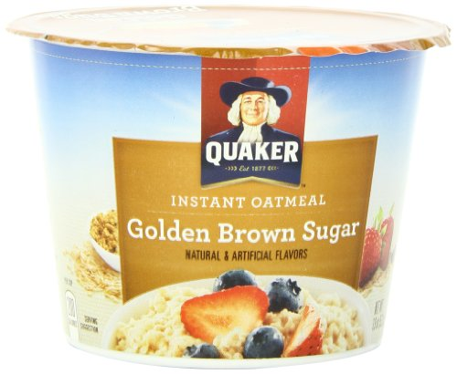 Quaker Instant Oatmeal Golden Brown Sugar, 1.9-Ounce Cups (Pack of 24)