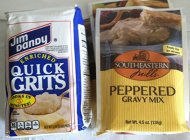 Jim Dandy Quick Grits 2 Lb Package with 3 Packages Peppered Gravy Mix