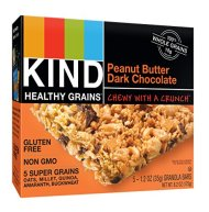 KIND Healthy Grains Healthy Grains Granola Bars, Peanut Butter Dark Chocolate, 5 Count