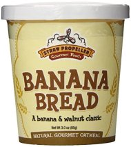 Straw Propeller Gourmet Foods Natural Gourmet Oatmeal, Banana Bread, 3.0 Ounce (Pack of 12)