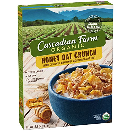 Cascadian Farm Cereal Organic Honey Crunch Oat, 13.5 Ounce