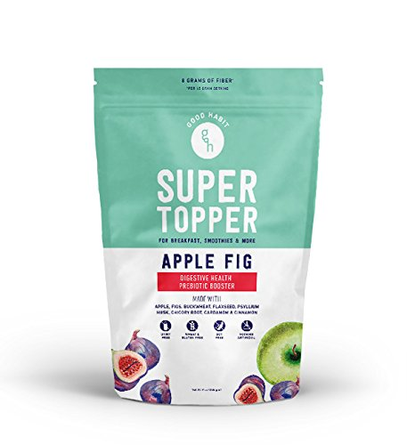 Good Habit Super Topper -Apple Fig- with Buckwheat, Chicory Root, Psyllium Husk Gluten Free Prebiotic Digestive Health Booster